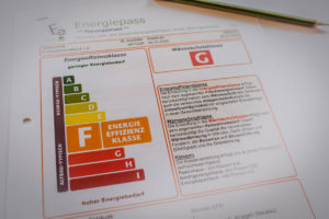 certificat de performance énergétique Energiepass